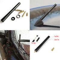 "1 set 12cm (4.7"") Car Antenna Carbon Fiber Radio FM Antena Black Kit + Screw"