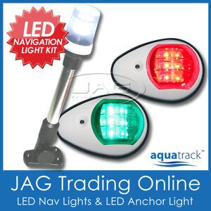 12V LED WHITE NAVIGATION & ANCHOR LIGHT KIT - Boat/Marine/Port/Starboard/Stern