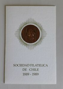 Chile 1989 – Greeting card – Kannegiesser – Philatelic Society of Chile - Copper