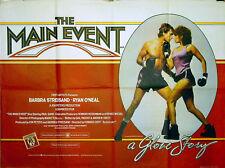 MAIN EVENT 1979 Barbra Streisand, Ryan O'Neal UK QUAD POSTER