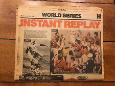 PHILADELPHIA PHILLIES WORLD SERIES CHAMPS NEWSPAPER THE BULLETIN OCTOBER 1980