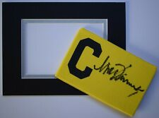 Mick Channon Signed Captains Armband free display Southampton Football AFTAL COA