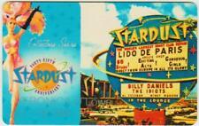 STARDUST CASINO**SHOW GIRL***45th anniversary* las vegas hotel key players card