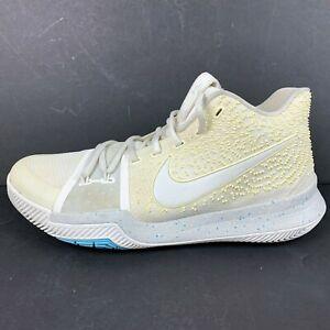 Nike Kyrie Irving 3 Mens 11 White Shoes III Summer Pack 852395 101 Light Bone