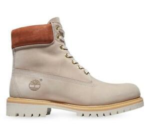 "Timberland Premium 6"" Inch WATERPROOF Boots A2JBX BEIGE DRAGONFLY NAVY NIB MEN'S"
