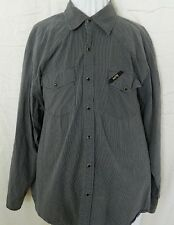 FX Men's Long Sleeve Shirt Size XL Extra Large Cotton Grey Pearl Snaps