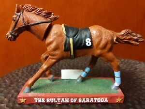 """""""The Sultan of Saratoga"""" Fourstardave Bobblehead Race Horse Collectible"""