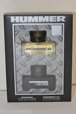 HUMMER MEN'S EDT GIFT SET: 2.5OZ HUMMER AND 2.5OZ HUMMER BLAC NEW IN SEALED BOX