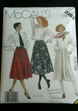 Uncut 1995 McCall's Miss 10 Skirt Sewing Pattern #2265
