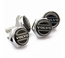 4PCS Set Volvo Car License Plate Bolts Logo Brand with Bolts Included Japan