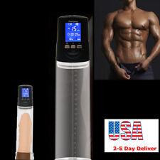 Big screen Electric Beginner Men Penis Pump Enlargement Sleeve Body Enhance Tool