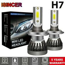 2x Mini H7 CREE Car LED Headlight 1800W 270000LM High Low Beam Bulb Kit 6000K