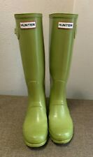 Womens Hunter Rain Boots Lime Green Size 6 Pre-Owned Condition