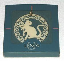 Brand New! Lenox Porcelain Ornament ~ Yuletide Cat Ornament / Box Is Good!