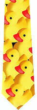 Yellow Rubber Ducky Mens Neck Tie Novelty Duck Dress Necktie Animal Bird New