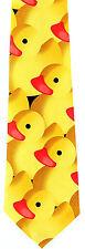 Yellow Rubber Ducky Mens Neck Tie Novelty Duck Dress Necktie Animal Bird New