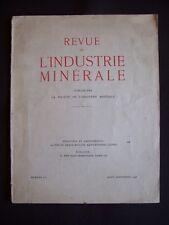 Revue de l'industrie minérale - N°513 1946