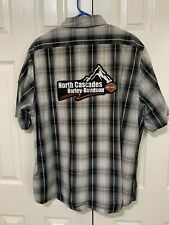 Harley-Davidson Shop Shirt XL plaid Genuine Work Wear Royal Enfield