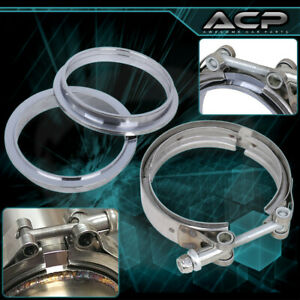 """S/S 4"""" 4 Inch V-Band Clamp Flange Stainless Steel For Turbo Downpipe Exhaust"""