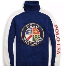 f03248e95d3f Polo Ralph Lauren Polo USA Cookie Wool Turtleneck Sweater Vintage Tech Ski  XL