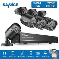 Home Security Camera System Dvr Black 4 Weatherproof Cameras 4 Channel Hd Sannce