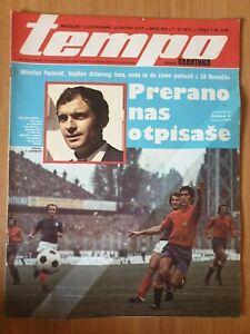 sport magazine TEMPO 402 football Yugoslavia vs Spain cover page 1973