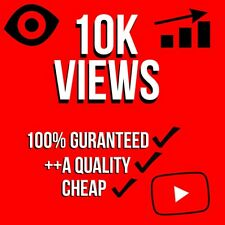 10,000 10K Youtube Service/Watches (FAST/QUICK AND RELIABLE!) 100% GUARANTEED
