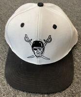 NFL Las Vegas Raiders White Logo Style Snap Back Cap Hat Oakland Raiders