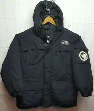 North Face Antarctica McMurdo Station Black Goose Down Insulated Jacket Mens XL