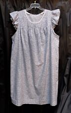 ADONNA 100% COTTON WOVEN LIGHTWEIGHT CAP RUFFLE SLEEVE NIGHTIE NIGHTGOWN~3X~4X
