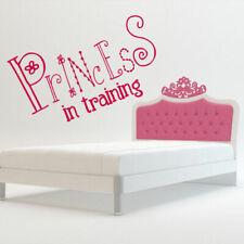 Wall Decal Princess Training Crown Nursery Inscription Letter Cartoon M608