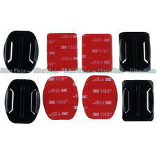 2x Flat+2x Curved Surface Mount with 3M Adhesive for GoPro HD Hero 2 3+ 4 Camera