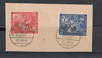 SBZ Michel-Nr. 230-231 gestempelt ESST auf Briefstück
