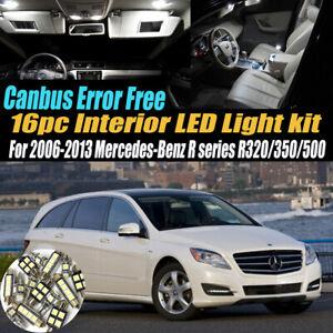 16Pc Error Free White Interior LED Light Kit for 2006-13 Mercedes-Benz R Series