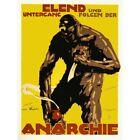 Propaganda Political Aftermath Germany War Wwi Anarchy Monster Framed Art Print