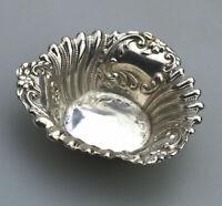 An antique solid silver small Bon Bon / Pin Dish by William Hutton C.1900