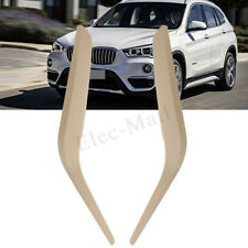 1 Pair Side Inner Door Panel Handle Pull Trim Cover Beige For BMW X1 E84 2010-16