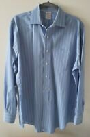 Brooks Brothers 1818 Blue/White Striped Dress Button Down Shirt Men's Size 16-34