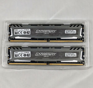 CRUCIAL Ballistix Sport 32GB (2x16GB) DDR4-2400 288-Pin Gaming Desktop PC Memory