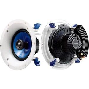 """Yamaha 8"""" 140W In Ceiling Speakers Pair (2) 1"""" Swivel Tweeter - NS-IC800"""