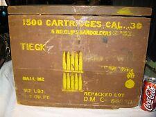 ANTIQUE NRA AMMO GUN MILITARY USA WAR ART BULLET WOOD BENCH AMMUNITION BOX CRATE