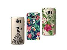 Samsung Galaxy S7 Edge - Paquete de 3 Carcasas Gel Suave con Estampado Lujo