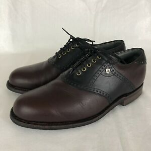 Mens FootJoy Classics Dry Vintage Leather Golf Shoes Saddle Size 8 EE - 51403