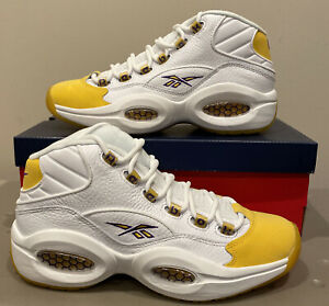 Reebok Question Mid Yellow Toe FX4278 Size 9 Mens Brand New RARE (SOLD OUT)