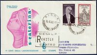 1962 - FDC Venetia - Santa Caterina - Viaggiata per raccomandata - n.-188It