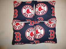4 Cornhole Bag Set Corn Hole Toss MLB Boston Red Sox Bl