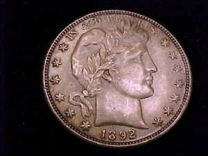 1892-O  Barber Half Dollar, About Uncirculated in  Grade.  Almost Mint State!!