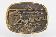 DENVER CALGARY ECOLLEMENT CONSULTING SOLID BRASS BTS 1978 BELT BUCKLE 0147