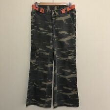 Vintage Rusty Camo Camouflage Army Cargo Bootcut Pants Women's Ladies 8