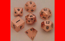 Metal Dice 16mm Copper Dice Set DnD Rpg